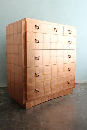 Vintage copper leaf dresser